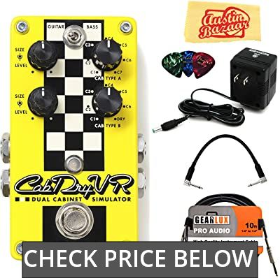 DigiTech CabDryVR Dual Cabinet Simulator Pedal Bundle with Power Supply, Instrument Cable, Patch Cable, Picks, and Austin Bazaar Polishing Cloth